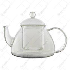 Ceainic cu infuzor realizat din sticla