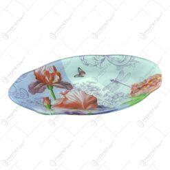 Platou pentru servire realizat din sticla - Design Flowers - Oval