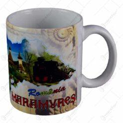 Cana ceramica cu grafica si poze - Maramures - Motive populare romanesti