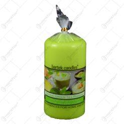 Lumanare parfumata cilindrica - Ceai verde (Model 2)