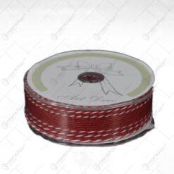 Panglica decorativa realizata din material tip iuta - Rosu