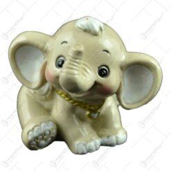 Figurina decorativa realizata din ceramica - Design Elefant (Model 3)