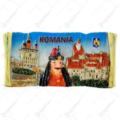 Magnet de firgider realizat din rasina -  Design Dracula & Castelul Bran