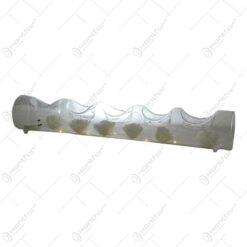 Suport pentru lumanare realizata din sticla - Designcu led