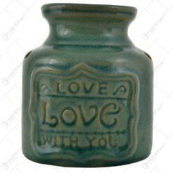 Candela de aromaterapie pentru lumanare pastila realizata din ceramica - Desing Love - Diverse modele