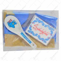 Set 3 accesorii in cutie - Magnet. lingura si steag secuiesc