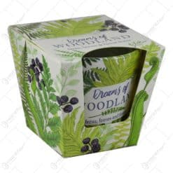 Lumanare parfumata in pahar realizat din sticla - Desing Woodland - 2 modele