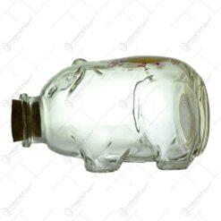 """Pusculita realizata din sticla - Porcusor - """"Pentru petrecere"""""""