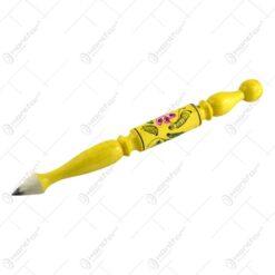 Creion decorativ - Design Traditional - Diferite culori si modele - Mare (30 CM)