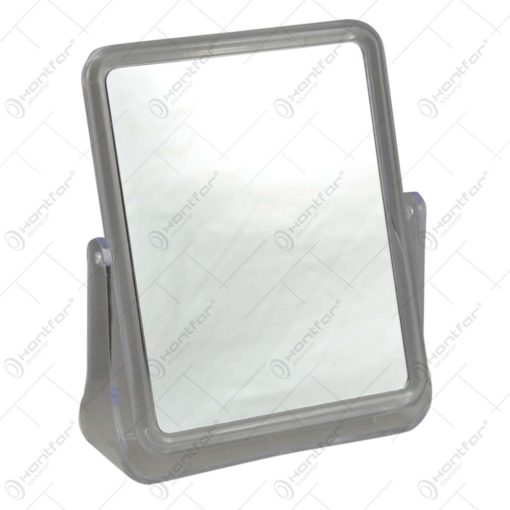 Oglinda de masa dreptunghiulara cu suport din plastic