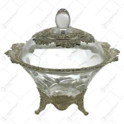 Bomboniera realizata din sticla - Elegant Metal