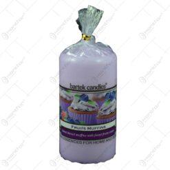 Lumanare parfumata cilindrica - Fructe de padure (Model 2)