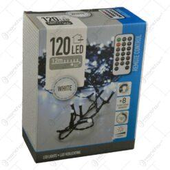 Instalatie cu 120 de leduri pentru interior si exterior cu telecomanda - Alb rece