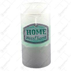 Lumanare realizata in forma cilindrica - Home Sweet Home