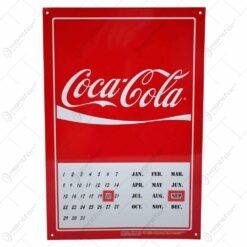 Calendar perpetuu realizat din metal - Design Coca-Cola