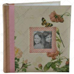 Album pentru fotografii - Design cu fluturi si flori - 2 culori