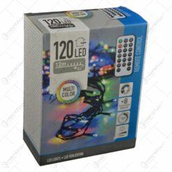 Instalatie cu 120 de leduri pentru interior si exterior cu telecomanda - Multicolor