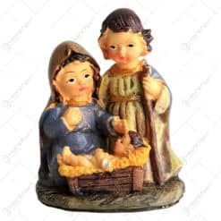 Decoratiune de craciun din ceramica - Design Copii reperezentand Sfanta Familie