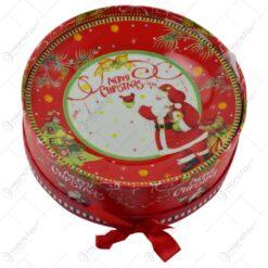 "Set 6 farfurii intinse in cutie cadou - Design Craciun cu mesajul ""Merry Christmas"""