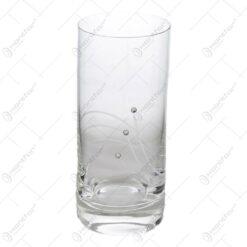 Set 6 pahare pentru apa realizate din sticla - Design Elegant