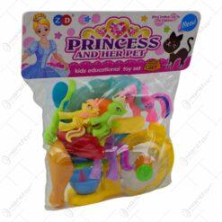 Set jucarie pentru fetite - Ponei si accesorii de bucatarie