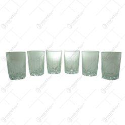 Set 6 pahare pentru apa realizate din sticla