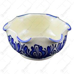 Bol dantelat  din ceramica de Corund pictat cu motive traditionale in diferite culori