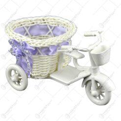 Suport pentru flori realizat din plastic forma de bicicleta. cap. 1 ghiveci - 2 modele