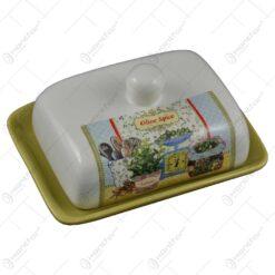 Untiera realizata din ceramica - Design cu masline si accesorii de bucatarie