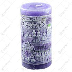Lumanare parfumata in forma cilindrica - Design Lavender Boutique (Model 2)