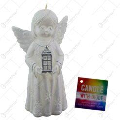Lumanare cu dioda in forma de inger pentru Craciun - Bethlehem angel - 2 culori