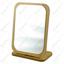Oglinda de masa cu suport din lemn (Model 2)