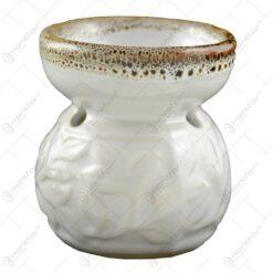 Candela de aromaterapie pentru lumanare pastila realizata din ceramica - Diverse modele (Model 1)