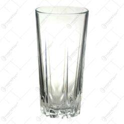 Set 6 pahare pentru bauturi racoritoare realizate din sticla - Design Elegant (Tip 1)