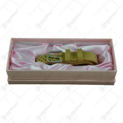 Curea pentru femei din piele sintetica in cutie eleganta