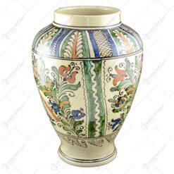 Vaza ceramica de Corund pictat cu motive traditionale - 32 cm
