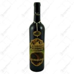 """Vin rosu 0.75l cu eticheta decorata cu butoi - Design """"Un ocean de sanatate..."""""""