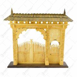 Poarta secuieasca sculptata manual din lemn - Design Traditional (48 x 40 CM)