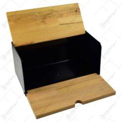 Cutie realizata din lemn pentru paine -