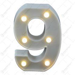 Numere realizate din plastic cu led - 0-9