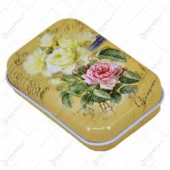 Cutie metalica pentru bomboane 7x5 CM - Design Floral