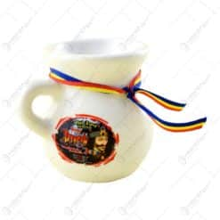 Canita ceramica pentru lapte cu fir tricolor si garfica - Diferite tipuri
