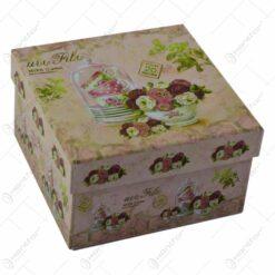 Set de 3 cutii cadouri realizat din hartie - Lavanda Casuta