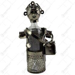 Suport realizat din metal pentru sticla de vin - Doctor (Model 1)