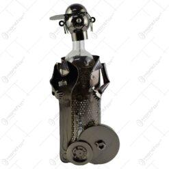 Suport realizat din metal pentru sticla de vin - Mecanic (Model 1)