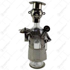 Suport realizat din metal pentru sticla de vin - Bucatar