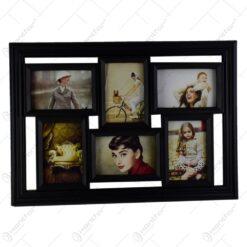 Rama foto din plastic simplu - Collage dreptunghi - 6 poze