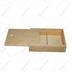 Cutiuta decorabila pentru carti de joc din lemn 14x11 CM- Hobby