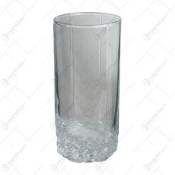 Set 6 pahare pentru bauturi racoritoare realizate din sticla - Design Elegant (Tip 2)