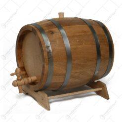 Butoi cu robinet pentru bauturi alcoolice realizat din stejar (10l)